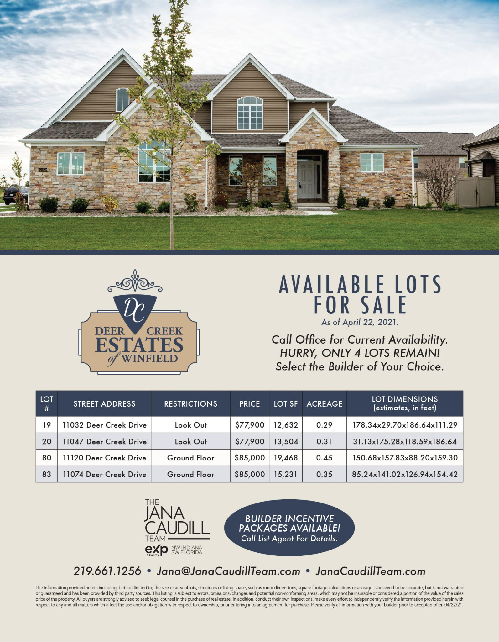 Available property lots to build new house with help of Lowell realtor.